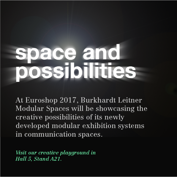 Guiding idea for Euroshop fair: space and possibilities